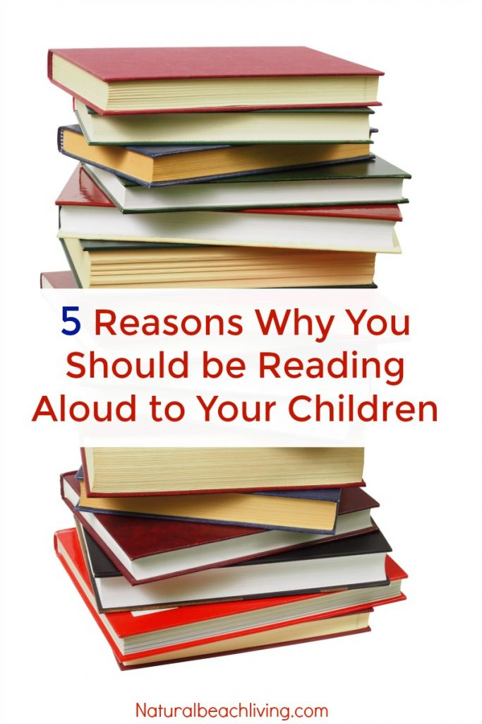 5 Reasons Why it's important to read to children, read aloud resources, Why is reading aloud important to children, Reading list and activities, The Importance of reading