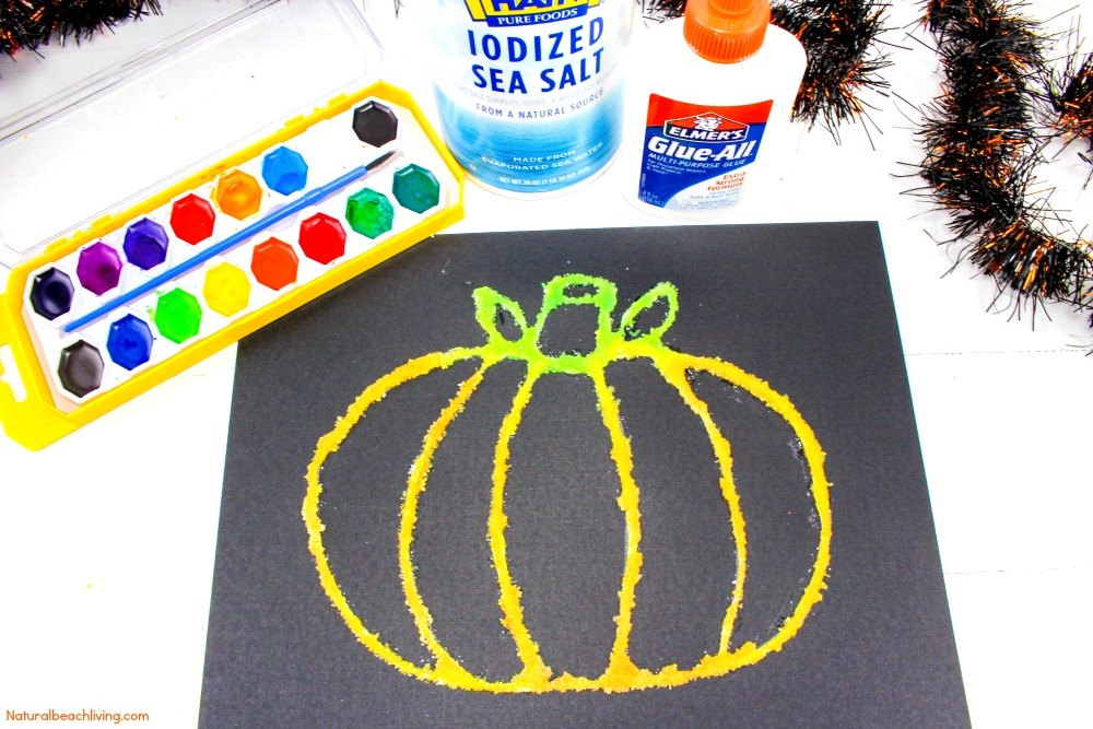 halloween arts and crafts ideas easy how to make pumpkin salt painting with 7751