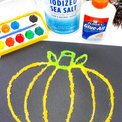 How to Make The Best Halloween Pumpkin Salt Painting