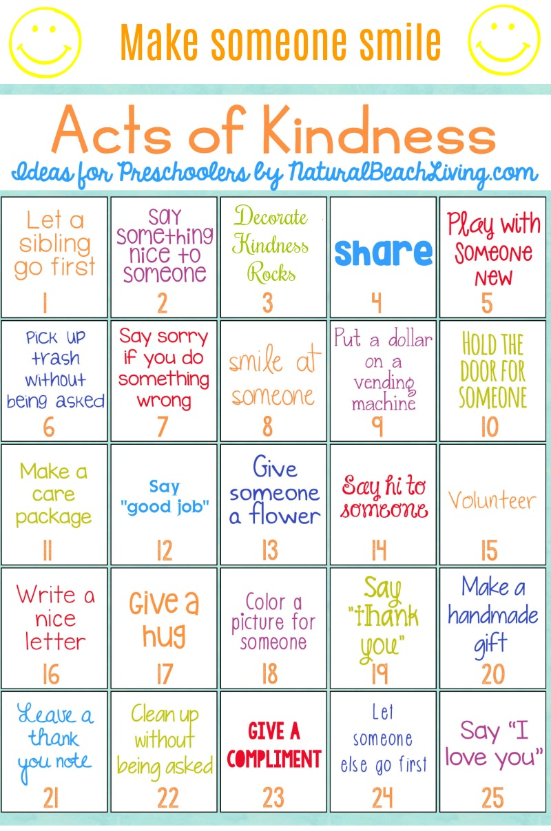 25 Best Random Acts of Kindness Ideas for Preschoolers ...