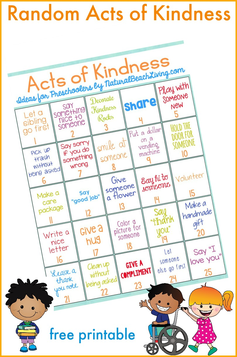 101 Of The Best Random Acts of Kindness Ideas, Random acts of kindness Printable, Acts of Kindness for Families, Acts of Kindness for Kids, Easy Ways to Show Kindness, Small acts of kindness ideas, Great Kindness Ideas! #kindness #raok #randomactsofkindness