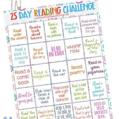 25 Day Reading Challenge for Kids
