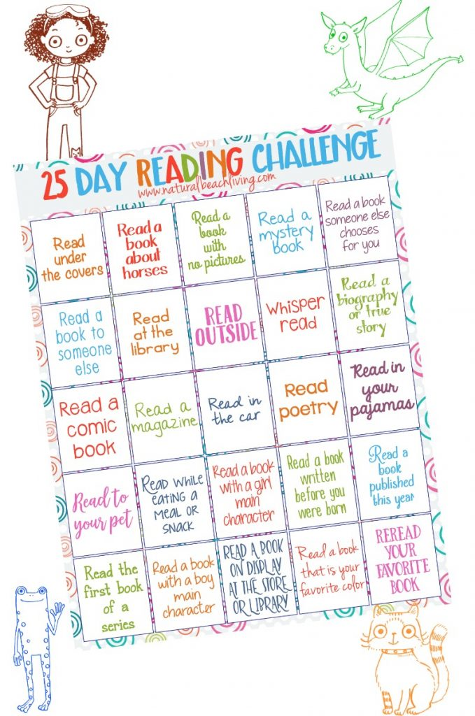 perfect 25 day reading challenge for kids kids reading activities free printables reading challenge - Kids Activity Book Printable