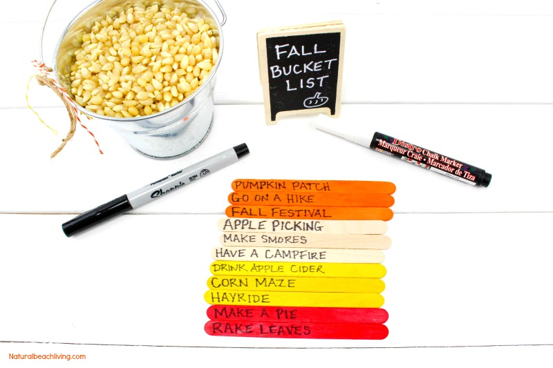 How to Make a DIY Fall Bucket List Kids Love, Fall Bucket List Ideas, Fall Crafts, Fall Bucket List for Families, Fall Bucket List for Kids and fun fall ideas that everyone will love.