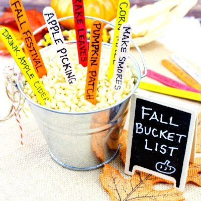 How to Make a DIY Fall Bucket List Kids Love