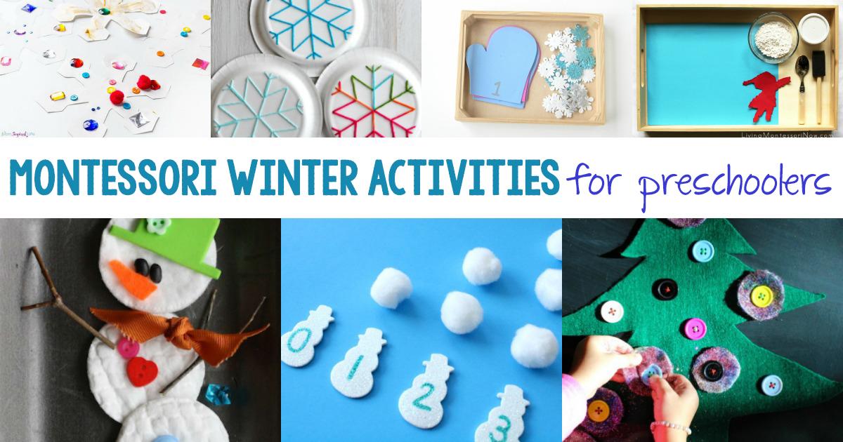 30+ Best Montessori Winter Activities for Preschool and Kindergarten ...