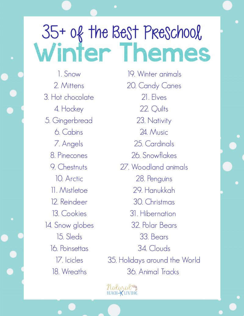 weekly themes for preschool 35 best winter preschool themes and lesson plans 260