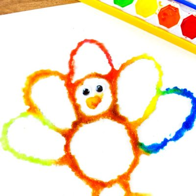 How to Make The Best Thanksgiving Turkey Salt Painting
