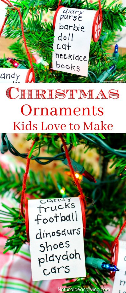 Easy Christmas Ornaments Kids Make, Unique Christmas Ornaments, Kid Made Christmas Ornaments, Personalized Christmas Ornaments, Homemade Christmas Ornaments, #Christmascrafts #homemadeChristmasornaments #Christmas