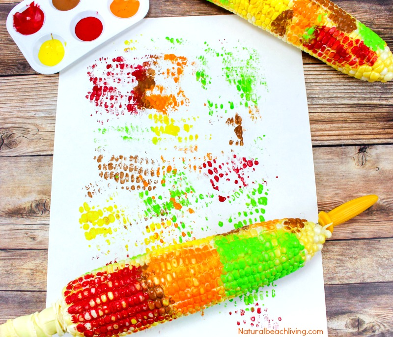 Fun Corn Cob Craft Painting for Kids, Thanksgiving Crafts, Thanksgiving Arts Crafts, Corn Cob Painting, Easy Fall Crafts for preschoolers, Easy Thanksgiving Crafts Kids Love #Thanksgiving #Crafts #Fallcrafts