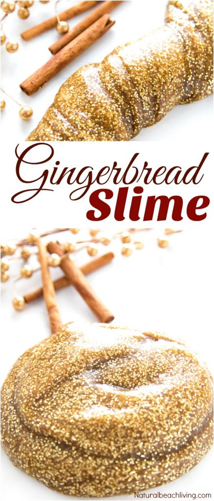 How to Make The Best Gingerbread Slime Recipe, Easy Slime Recipe, Perfect Homemade Slime, Scented Slime Recipes for Kids, Winter Sensory Play, Jiggly Slime Recipe #Slime