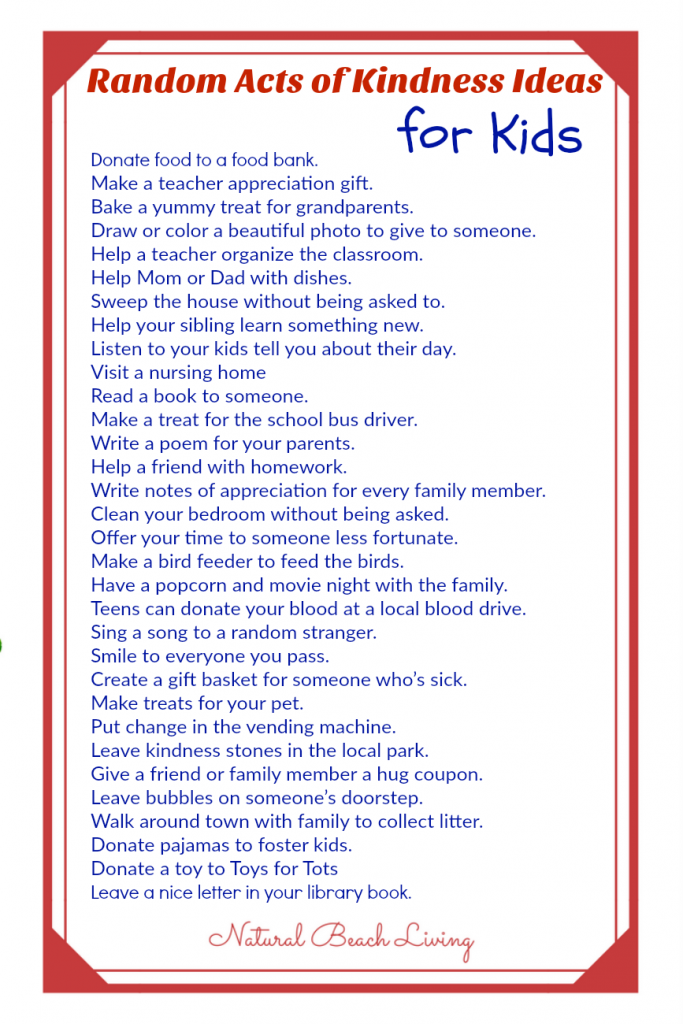 30+ Random Acts of Kindness for Kids, Random Acts of Kindness ideas, list of random acts of kindness, Random Acts of Kindness Kids, Random Acts of Kindness Classroom, RAOK, RAK #randomactsofkindness #raok #actsofkindness