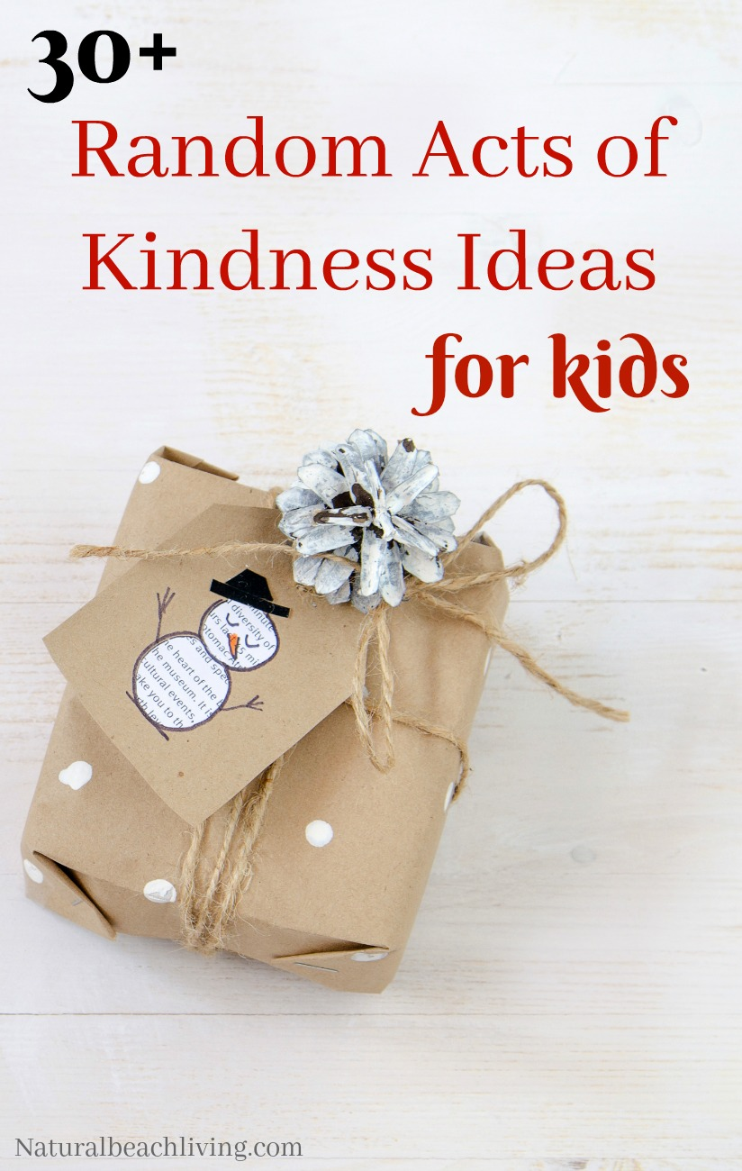 30  random acts of kindness for kids