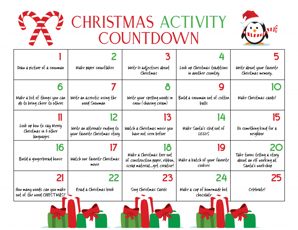Kids Christmas Calendar Ideas : Ultimate christmas calendar countdown kids will love