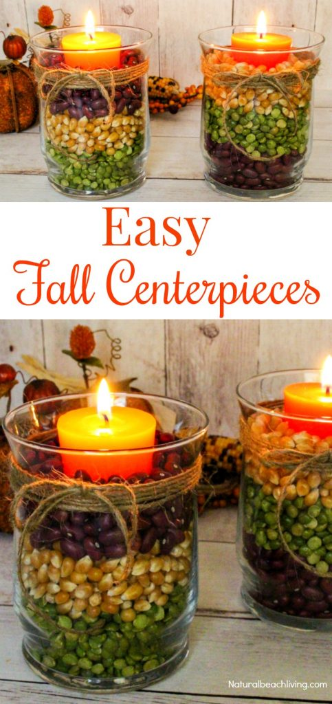 Easy fall table centerpieces harvest