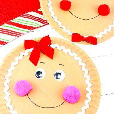 How to Make a Gingerbread Paper Plate Craft