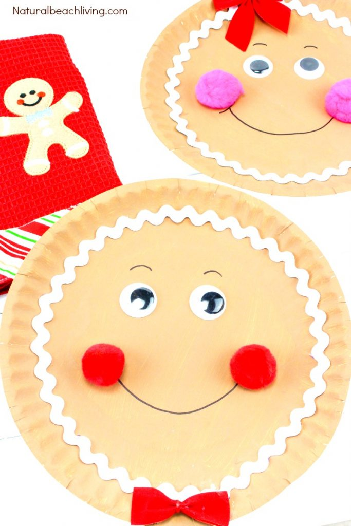 Gingerbread Paper Plate Craft  sc 1 st  Natural Beach Living & How to Make a Gingerbread Paper Plate Craft - Natural Beach Living