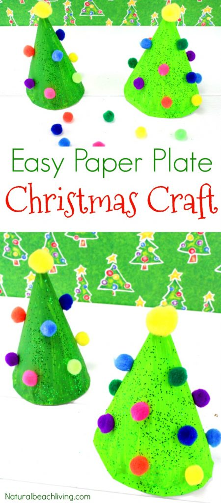 Easy Paper Plate Christmas Crafts Paper Plate Christmas Tree Craft Paper Plate Crafts for  sc 1 st  Natural Beach Living & Easy Paper Plate Christmas Crafts for Preschoolers - Natural Beach ...