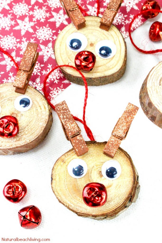 Easy to Make Rudolph Christmas Ornaments Kids Will Love, Christmas ornaments kids can make, perfect holiday ornaments, Handmade Christmas Ornaments, Unique DIY Christmas Ornaments, Great Christmas Craft, #Christmas