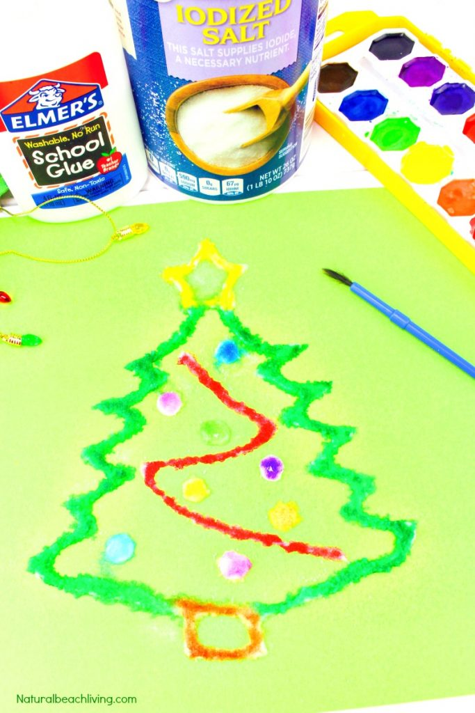 How To Make Christmas Salt Painting With Kids
