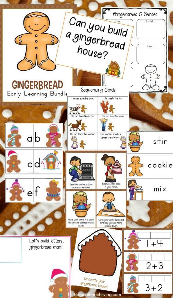 The Best Gingerbread Activities, Gingerbread Lesson Plan, Gingerbread Theme perfect for preschool and Kindergarten