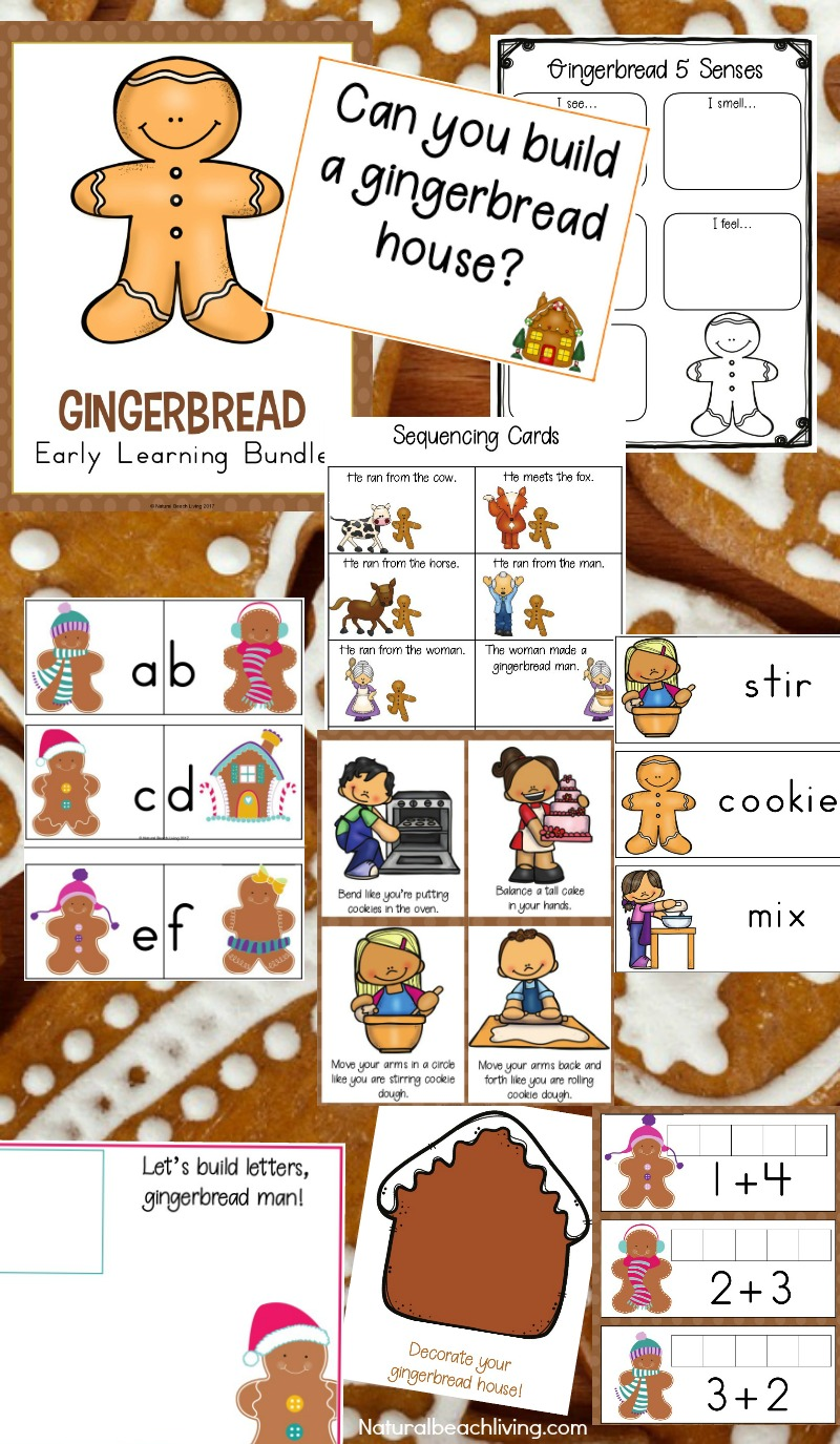 the best kindergarten and preschool gingerbread theme lesson plan