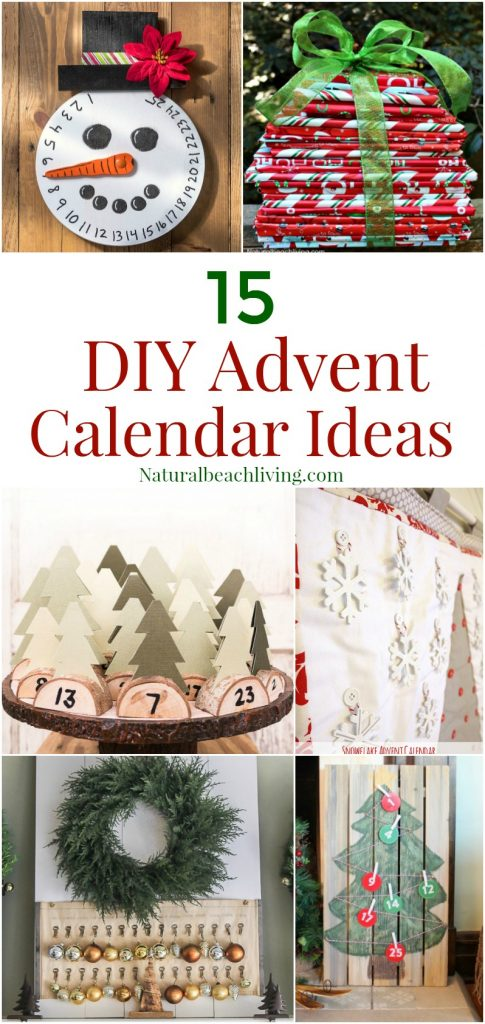 15 unique handmade advent calendar ideas natural beach for Diy christmas advent calendar ideas