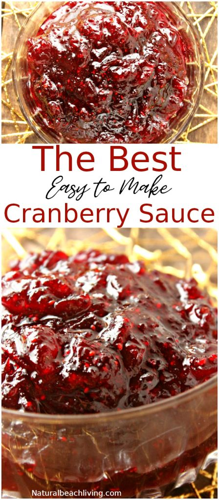 Easy Homemade Cranberry Sauce That Everyone Loves, Easy Thanksgiving recipes, Delicious homemade cranberry sauce to make ahead of time, Holiday recipe, Cranberry Sauce Thanksgiving Recipe #Thanksgiving #Thanksgivingrecipes