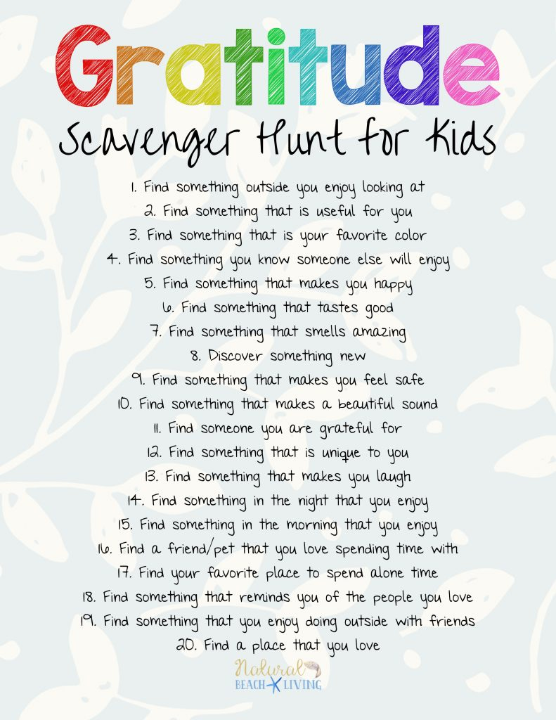 Scavenger Hunt For New Car >> The Best Gratitude Scavenger Hunt for Kids and Adults - Natural Beach Living