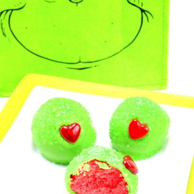 The Best Grinch Snacks – Christmas Cake Balls