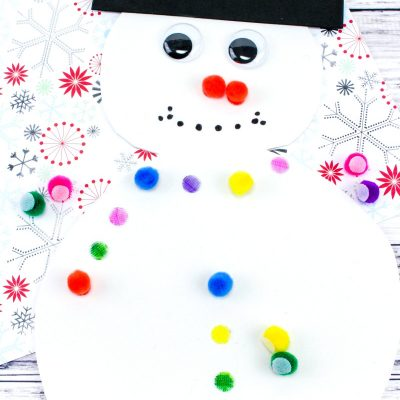 Easy Snowman Color Matching Activity for Preschool & Toddlers