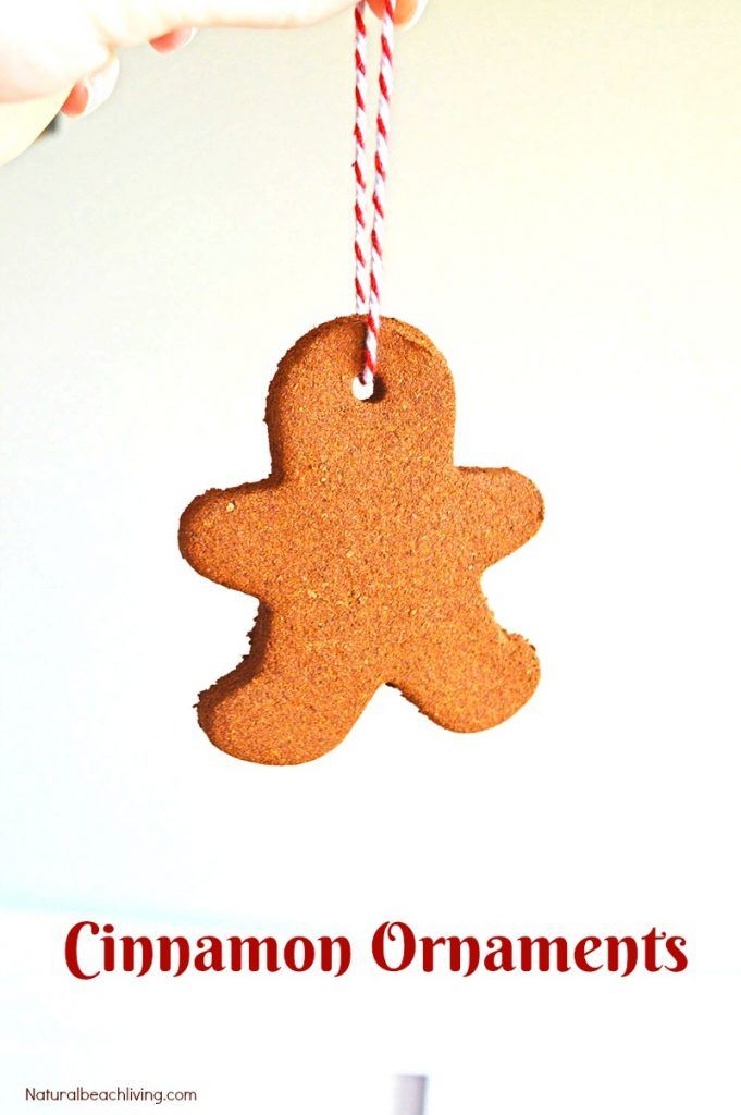 The Best Applesauce Cinnamon Ornaments Kids Can Make, Easy Handmade Christmas Ornaments, Scented Christmas ornaments, Kid Made Ornaments for Christmas, Gingerbread Man Ornaments #Christmasornaments #christmascrafts