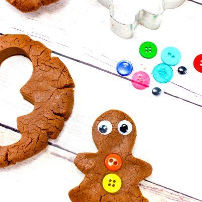 The Best Gingerbread Playdough Recipe – No-Cook – No Cream of Tartar