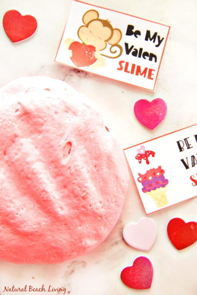 The Best Valentine\'s Day Fluffy Slime with free Valentine\'s Day ...