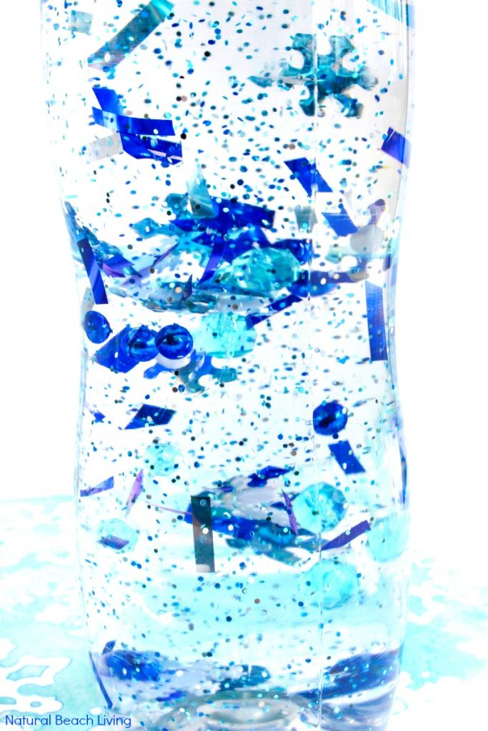 How To Make An Easy Winter Sensory Bottle That Kids Love
