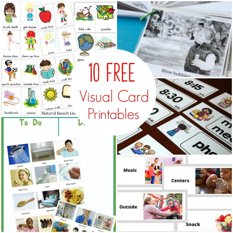 10 Autism Visual Schedule Printables for Kids, Autism Visual Schedule Free Printables, Autism Visual Schedule for the Home, Picture schedule, Autism Visual Schedule, Free printable visual schedule for preschool, Visual schedule for home, many advantages to using Autism Visual Schedules for your home and daily routines for children #autism #visualschedules #parenting #dailyschedules #picturecards