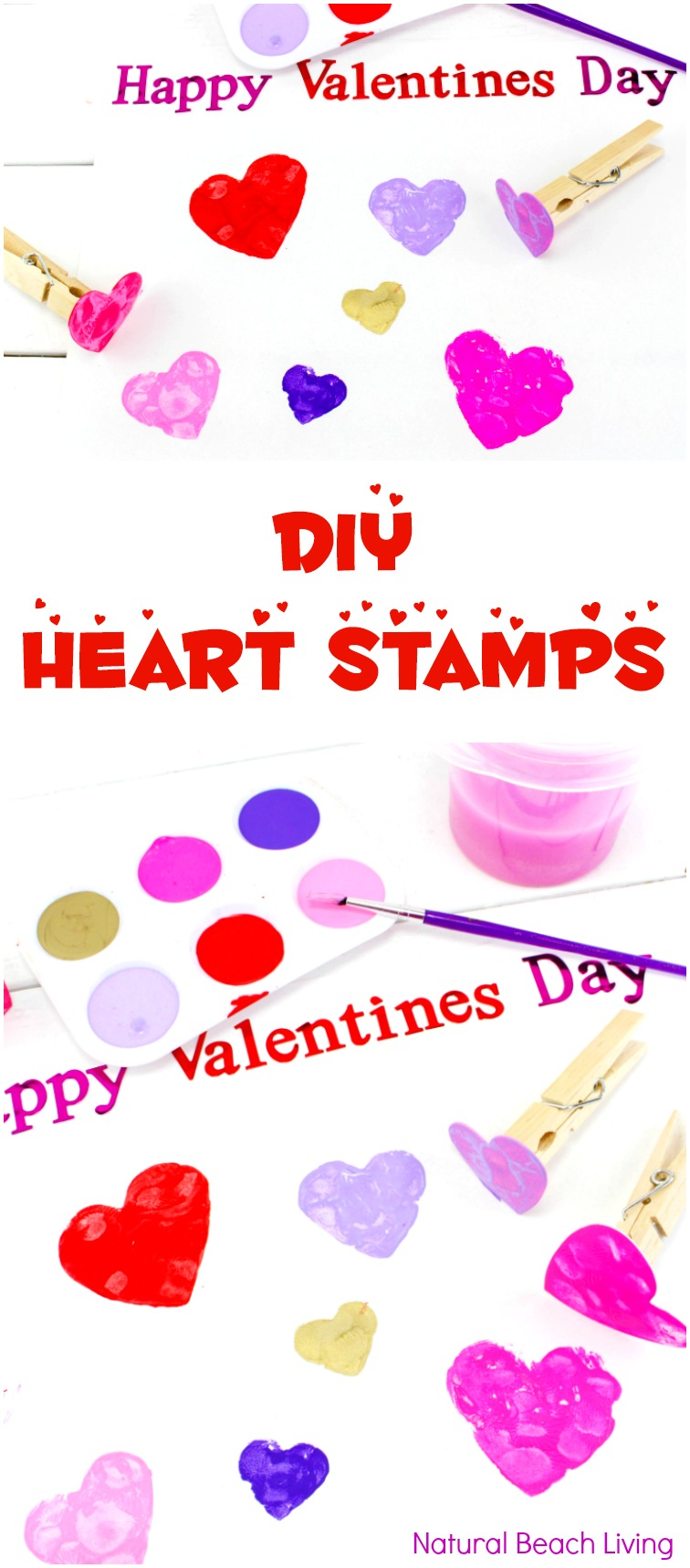 Easy diy heart stamps for perfect preschool heart crafts for Preschool crafts for february