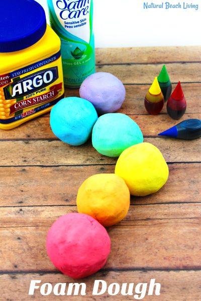 How to Make The Best Shaving Cream Play dough Recipe – Easy Rainbow Foam Dough