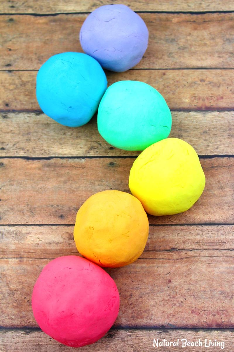how to make the best shaving cream play dough recipe - easy rainbow foam dough