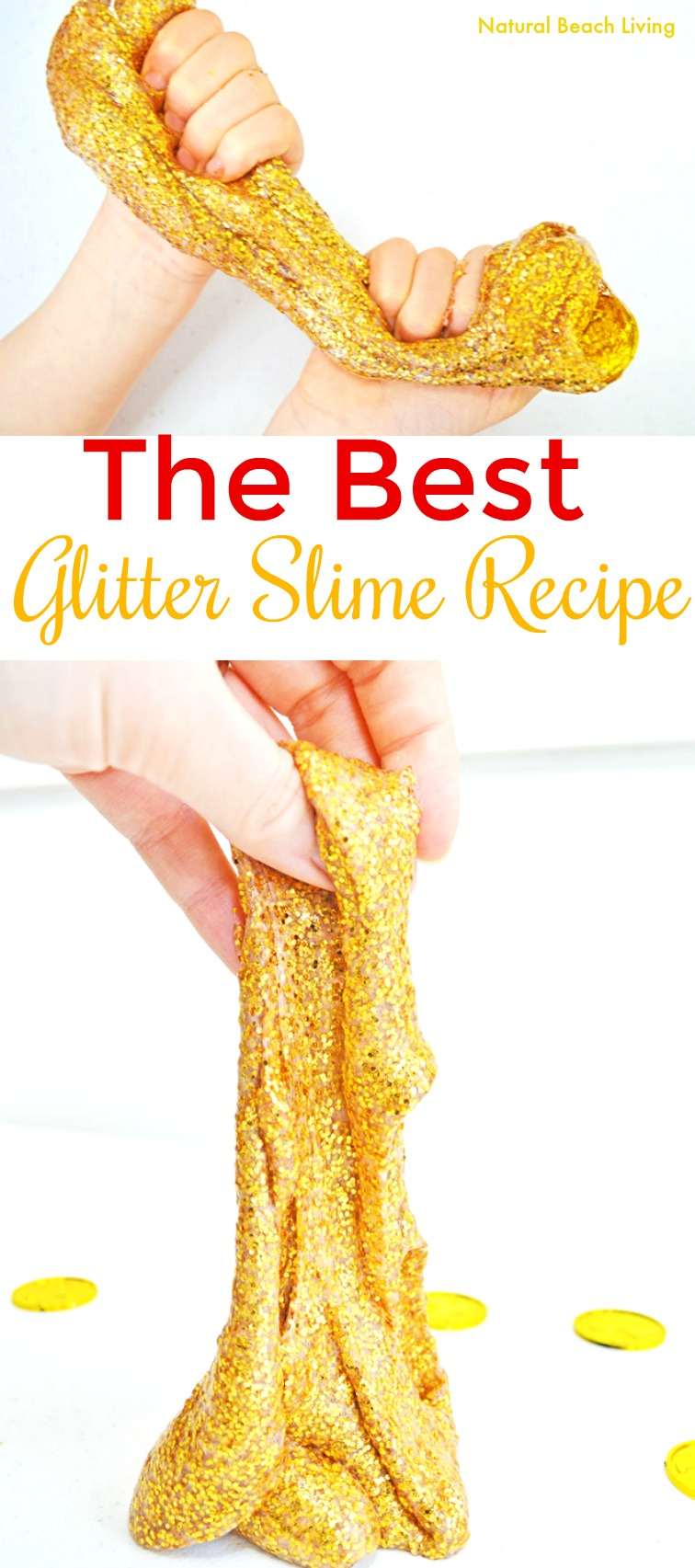 How to make slime recipe with contact solution kids love gold how to make slime recipe with contact solution kids loves gold glitter slime gold ccuart Image collections