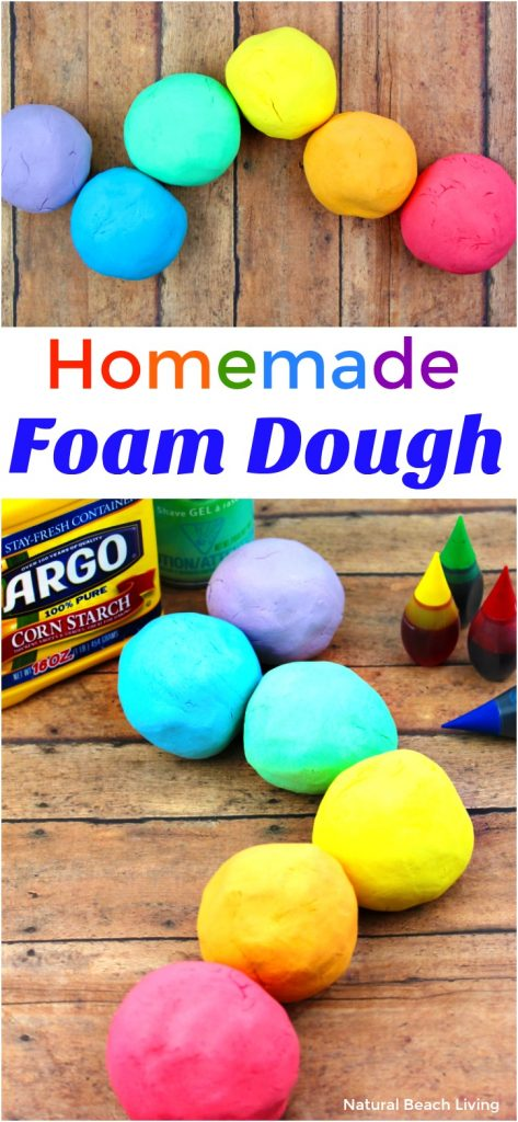 How to Make The Best Shaving Cream Play dough Recipe - Easy Foam Dough, Shaving Cream Playdough Recipe, Homemade Playdough Recipe, Foam Dough Recipe, Rainbow Foam Dough, No Cook Playdough recipe, Soft Silky Playdough Sensory Play that feels amazing! Spring activities for kids, Rainbow Theme, Easy Playdough Recipe,