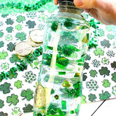 Easy St. Patrick's Day Sensory Bottles – DIY Sensory Activities