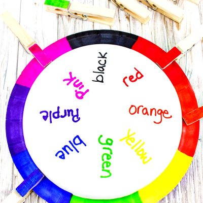 Teaching Colors Activities – Easy DIY Color Matching Craft