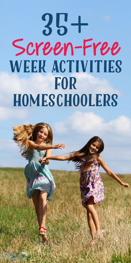 40+ Screen-Free Week Activities for Kids, Screen-Free Week Activities for Homeschoolers, You'll find Awesome Crafts, DIY ideas, Educational ideas and indoor and outdoor activities for kids to use without the screen. Screen free activities for tweens, Screen free week 2018, Indoor Activities, Homeschool Activities