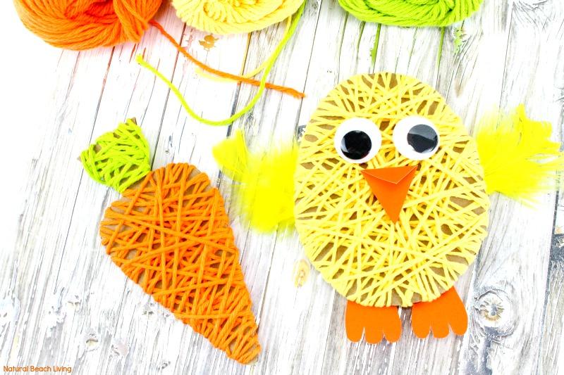 Easy Easter Crafts For Kids Adorable Easter Yarn Crafts For Kids