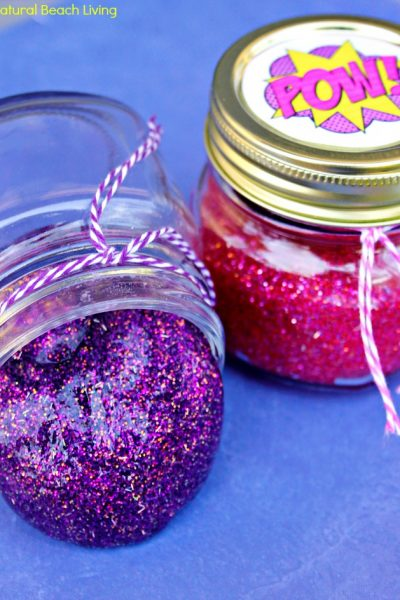 How to Make Slime with Contact Solution – Superhero Glitter Slime Recipe with Free Printables