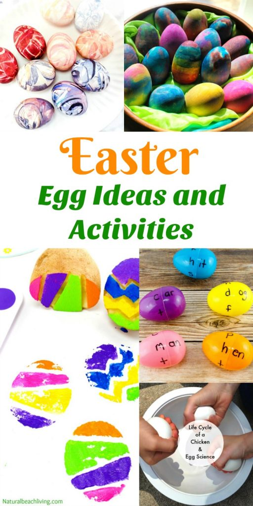 The Ultimate Easter Ideas and Activities Collection, Easter Crafts for Kids, Easter Recipes, Easter Basket Ideas, Non Candy Easter Basket Ideas, Easter Slime Ideas, Easter Egg Word Families, Easter Sensory Play, Candy Box Easter Basket, Easter Egg Stamping, No Candy Easter Basket Ideas, Spring Themes, Spring Activities, Montessori Easter