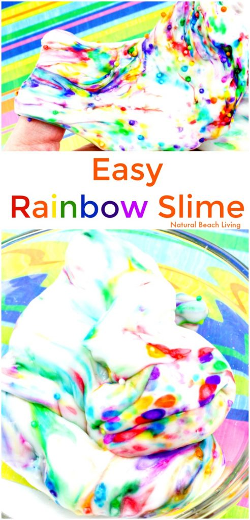 How to Make The Best Rainbow Slime Recipe, Homemade Rainbow Slime, Rainbow Slime Recipe for kids, DIY Slime Recipe, How to Make Slime Recipe with Contact Solution, This slime recipe is so easy to make and turns out perfect. Elmer's glue slime, saline solution slime recipe, Great for fine motor activities and sensory play, Jiggly Slime Recipe, Spring Activities for Kids, Easy Slime Recipe, THE BEST DIY SLIME RECIPES