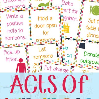 64+ Random Acts of Kindness Cards for Kids