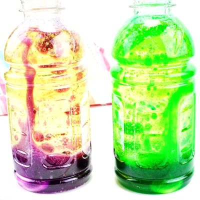 How to Make Lava Lamp Bottles Science Experiment for Kids